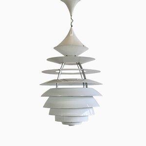 Lámpara colgante LP Centrum vintage grande de aluminio de Poul Henningsen & Kurt Norregaraard para Louis Poulsen