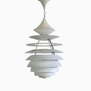 Large Vintage Aluminum LP Centrum Pendant Lamp by Poul Henningsen & Kurt Norregaraard for Louis Poulsen