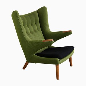 Mid-Century Papa Bear Lounge Chair by Hans J. Wegner for A.P. Stolen
