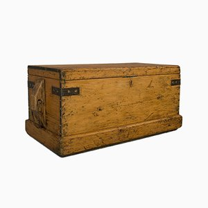 Antique Victorian English Shipwrights Tool Chest Trunk