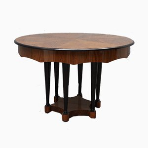 Biedermeier Extendable Walnut Wood Table, 1890s