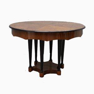 Biedermeier Extendable Walnut Wood Table, 1890s
