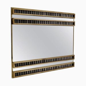 Brass and Murano Glass Wall Mirror, 1950s