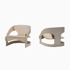 Nr. 62 & 79 Armchairs by Joe Colombo for Kartell, 1960s, Set of 2