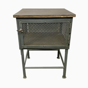 Vintage Industrial Gray Worktable, 1960s