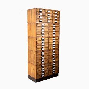 Vintage Industrial Wooden Cabinet, 1950s