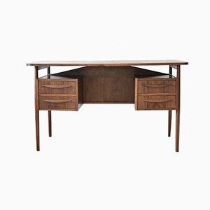 Danish Rosewood Desk by Gunner Nielsen for Tibergaard, 1960s
