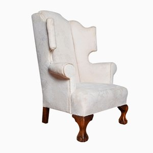 Large Antique Wingback Armchair