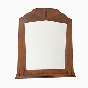Art Deco Amsterdam School Oak Wall Mirror with Beveled Glass from S. Speelman, 1920s