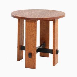 Tavolino Art Déco in legno di quercia dell'Aia di Jan Brunott, anni '20
