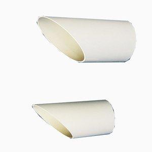Mid-Century Modell Obliqua Wandlampen von Claudio Dini für Bieffeplast, 2er Set