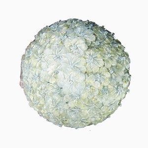 Florale Deckenlampe aus Muranoglas von Seguso, 1960er