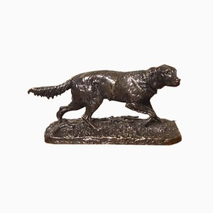 19th Century French Bronze Sculpture of a Setter by Pierre Jules Mene