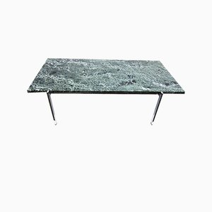 Chrome and Green Marble Coffee Table, 1960s