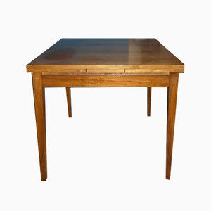 Mid-Century Extendable Square Walnut Dining Table, 196ös