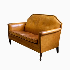 Art Deco Sofa aus Schafsleder, 1920er