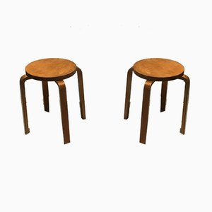 Mid-Century Stools by Alvar Aalto, 1960s, Set of 2