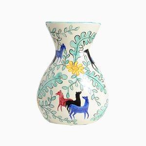 Mid-Century Italian Ceramic Vase from Deruta, 1950s