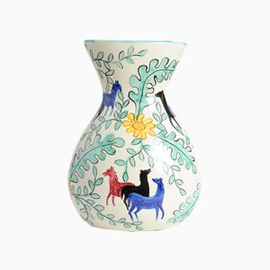Vaso Mid-Century in ceramica di Deruta, Italia, anni '50