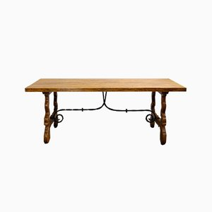 Antique Spanish Chestnut Dining Table