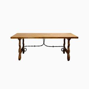 Tavolo da pranzo antico in legno di castagno, Spagna