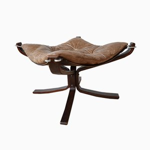 Mid-Century Falcon Chair Footstool by Sigurd Ressell for Vatne Møbler, 1970s