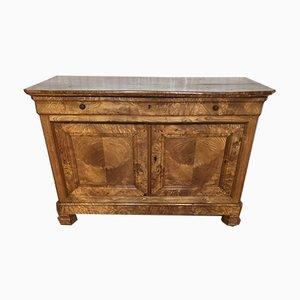 Buffet Luigi Filippo antico in legno di frassino