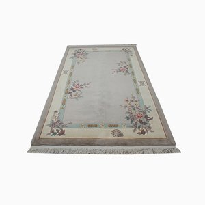 Vintage Hand-Knotted Chinese Wool Carpet