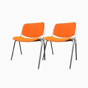 No. 106 DSC Desk Chairs by Giancarlo Piretti for Castelli / Anonima Castelli, 1960s, Set of 2
