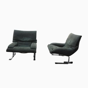 Model Onda Lounge Chairs by Giovanni Offredi for Saporiti Italia, 1970s, Set of 2