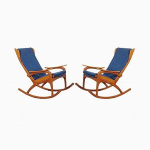 Mid-Century Rocking Chairs, 1960s, Set of 2