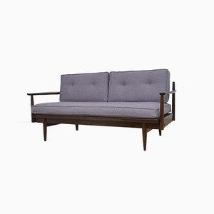 Ausziehbares Sofa & Schlafsofa mit Wollbezug, 1960er