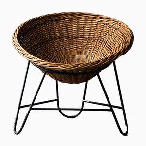 Deutsche Vintage Sessel aus Korbgeflecht, 1960er, 2er Set