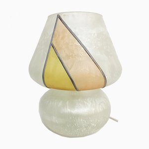 Painted Glass Table Lamp, 1980s