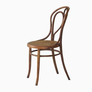 Antike Esszimmerstühle aus Schilfrohr von Fischel, 5er Set