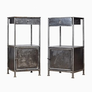 Iron Nightstands, 1920s, Set of 2
