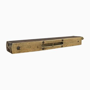 Antique Victorian English Brass and Rosewood Master Craftsmans Spirit Level, 1850