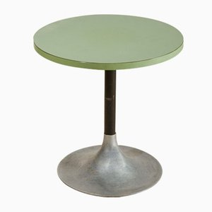 Mesa de centro italiana redonda de dos tonos, años 60