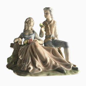 Figurine Jeune Couple en Porcelaine de Tenora Valencia, 1950s