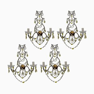 Mid-Century Italian Sconces, Set of 4