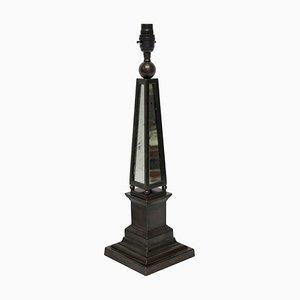 Vintage Obelish Tischlampen mit Spiegelglas, 2er Set