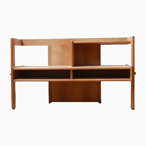 Mid-Century Oak TV Unit by Guillerme et Chambron, 1960s