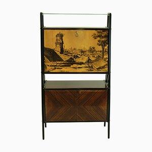 Italian Rosewood Bar Cabinet by Vittorio Dassi, 1950s