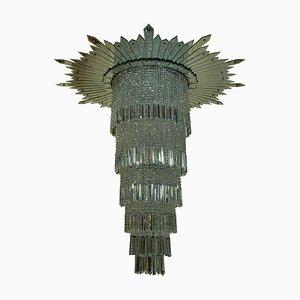 Kronleuchter aus Geschliffenem Glas, 1930er