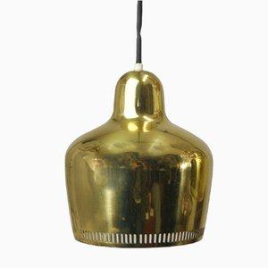 Lampes à Suspension Vintage Dorées par Alvar Aalto pour Artek, 1937, Set de 3
