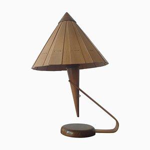 Lámpara de mesa Mid-Century de Veneer, años 50