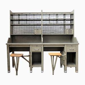 Vintage Post Schreibtisch, 1950er
