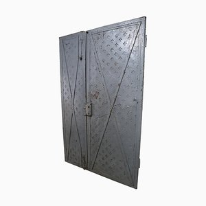 18th Century Italian Industrial Iron Doors, Set of 2