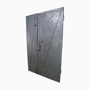 Italienische industrielle Türen aus Eisen, 18. Jh., 2er Set