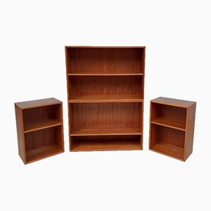 Mid-Century Danish Modular Wall Unit Shelving from Horsens Hjornebo